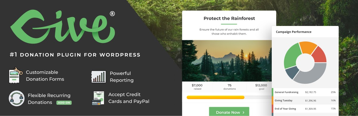 "Banner advertising ""GiveWP: The #1 Donation plugin for WordPress."""